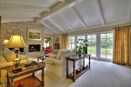 Central Pebble Beach Home for sale living room